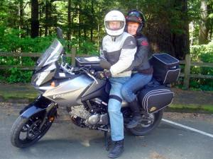 Rob and me on our first motorcycle trip