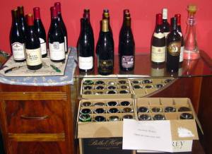 Some of Rob's wine