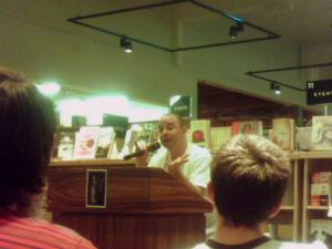 John Scalzi at his reading