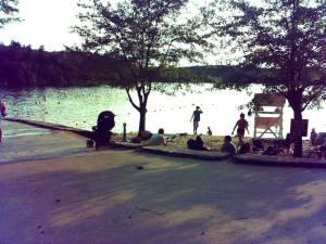 Walden Pond swimmers
