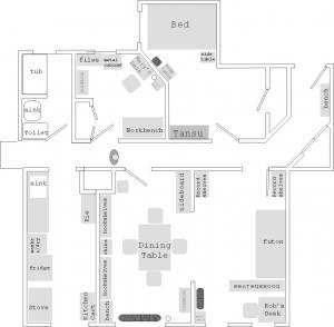 The apartment floorplan