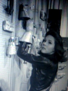 Mrs Peel hangs a dalek