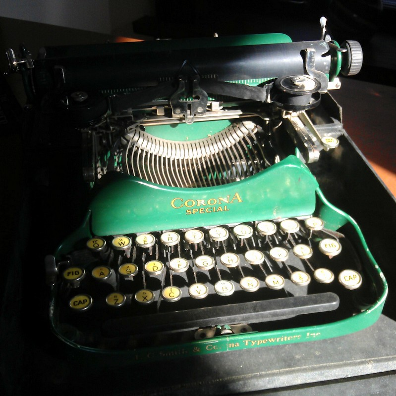 Green Corona typewriter