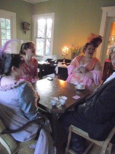 Playing cards with the Oregon Regency Society