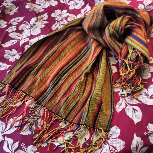 The Jay Lake genome scarf by Astrid Bear