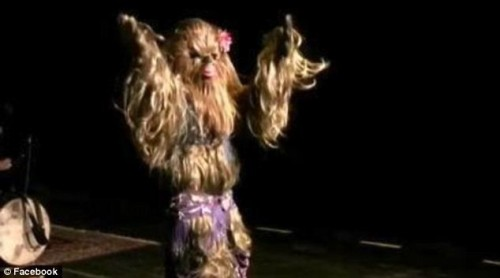 Wookiee in a bellydance costume
