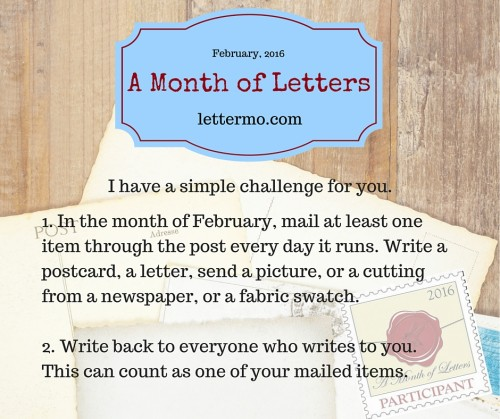 A Month of Letters Challenge (3)
