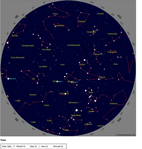 Star Chart from Heavens Above