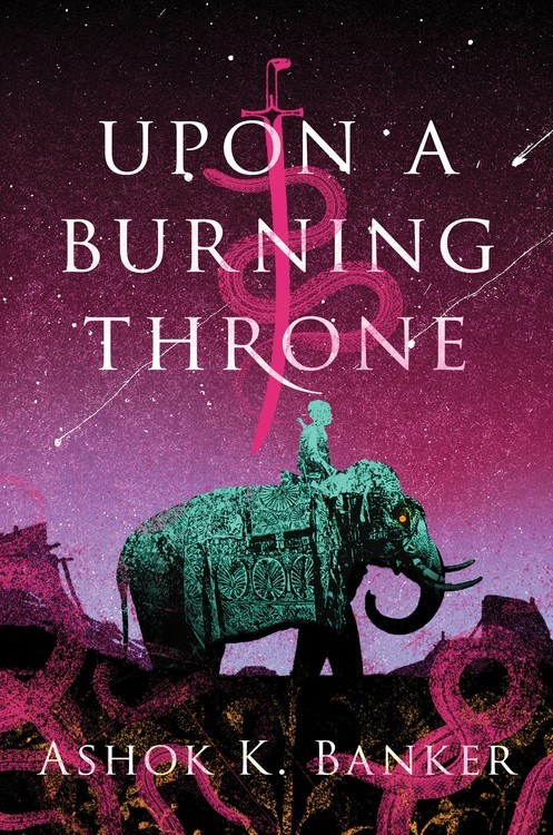 Upon a burning throne cover image