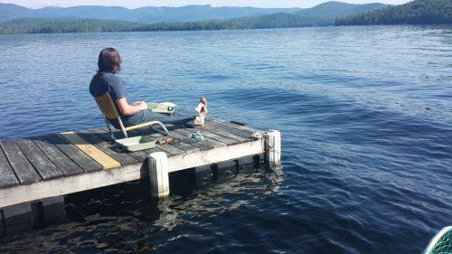 Kezar on a dock
